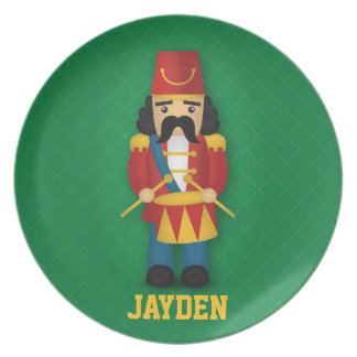 Colourful Military Drummer Soldier for Kids Dinner Plate