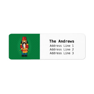 Colourful Military Drummer Soldier for Kids Return Address Label