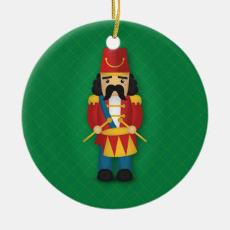 Colourful Military Drummer Soldier for Kids Round Ceramic Decoration