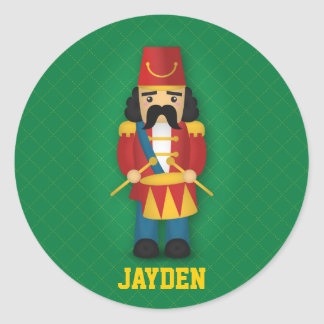 Colourful Military Drummer Soldier for Kids Round Sticker