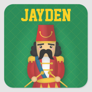 Colourful Military Drummer Soldier for Kids Square Sticker