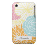 Colourful Mod Florals iPhone 3 Case-Mate Cases