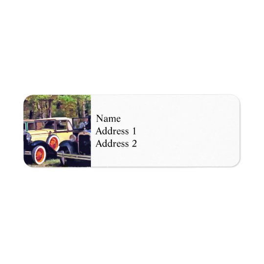 Colourful Model A's Return Address Label