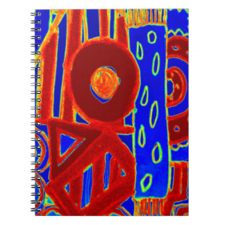 Colourful modern flurescent designed products notebook