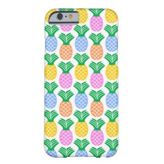 Colourful Modern Pineapple Pattern Barely There iPhone 6 Case