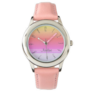 Colourful monogram watch