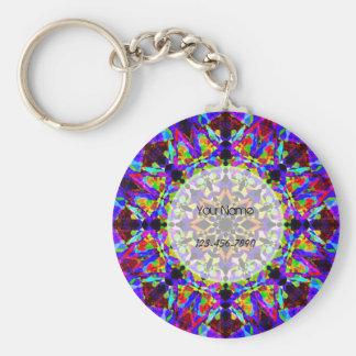Colourful Mosaic Key Ring