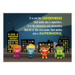 Colourful Motivating Superhero Quote For Kids Room Poster