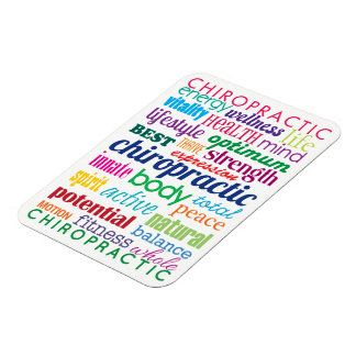 Colourful Motivational Word Collage Chiropractic Rectangular Photo Magnet