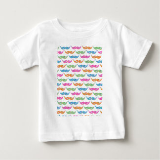 colourful moustache circles pattern image baby T-Shirt