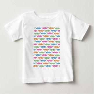 colourful moustache circles pattern image t-shirt
