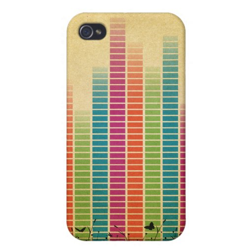 Colourful Music Beats In Nature Case For iPhone 4