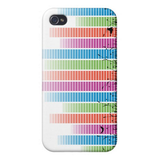 Colourful Music Beats In Nature iPhone 4/4S Cases