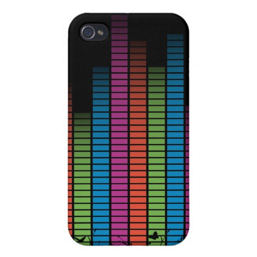 Colourful Music Beats In Nature iPhone 4/4S Case