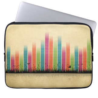 Colourful Music Beats In Nature Laptop Sleeves