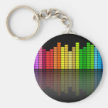 Colourful Music Equalizer w/Reflection, Cool Techn Keychains