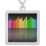 Colourful Music Equalizer w/Reflection, Cool Techn Jewelry