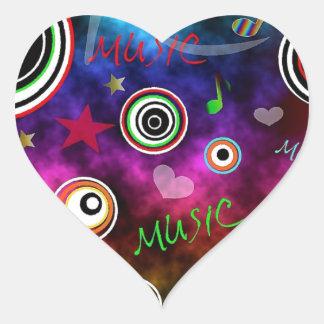 Colourful Music Illustration Sticker