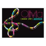 Colourful Music Notes Treble String Artist Art