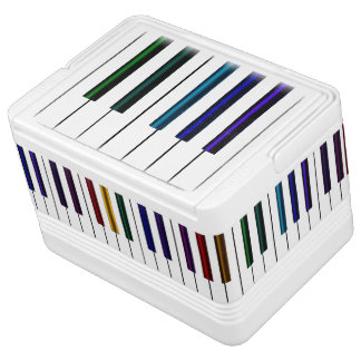 Colourful Music  Piano Keyboard Cooler