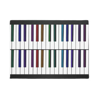 Colourful Music Piano Keys Festive Welcome Doormat