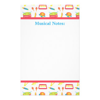 Colourful Musical Instruments For Kids Stationery