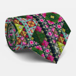 Colourful Nature Fractal Pattern Tie