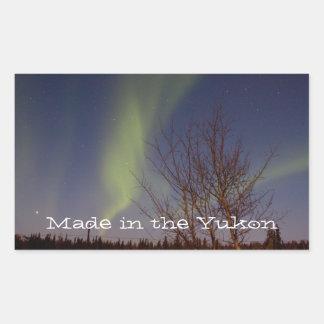 Colourful Northern Sky; Yukon Territory Souvenir Rectangular Sticker
