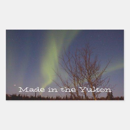 Colourful Northern Sky; Yukon Territory Souvenir Rectangular Stickers
