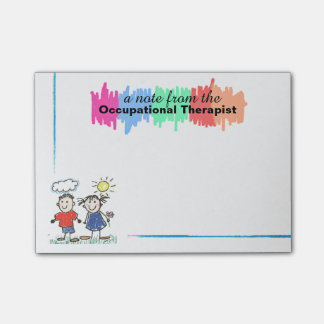 Colourful Occupational Therapist Sticky Notes