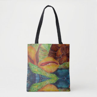 Colourful ocean batik tote bag