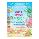 Colourful Ocean Under The Sea Birthday Invitation