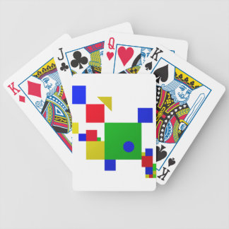 Colourful one bicycle playing cards