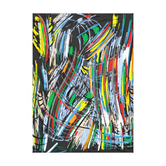 Colourful one canvas print