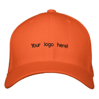 Colourful orange cap embroidered baseball caps