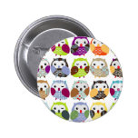Colourful Owl Pattern Pins