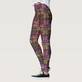 Colourful Paisley Mandala Leggings