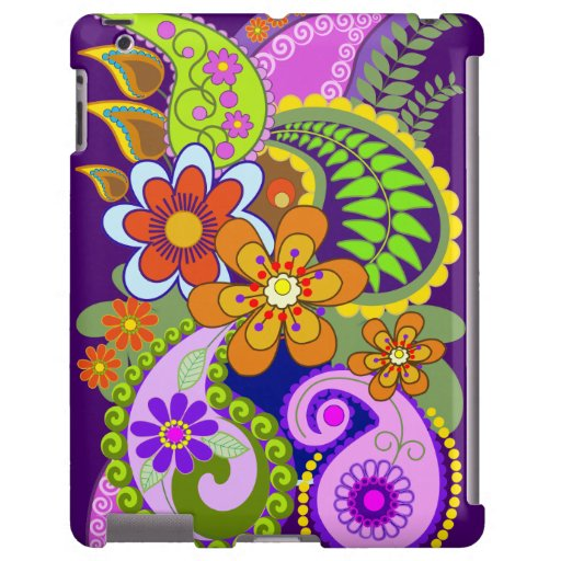 Colourful Paisley Patterns and Flowers