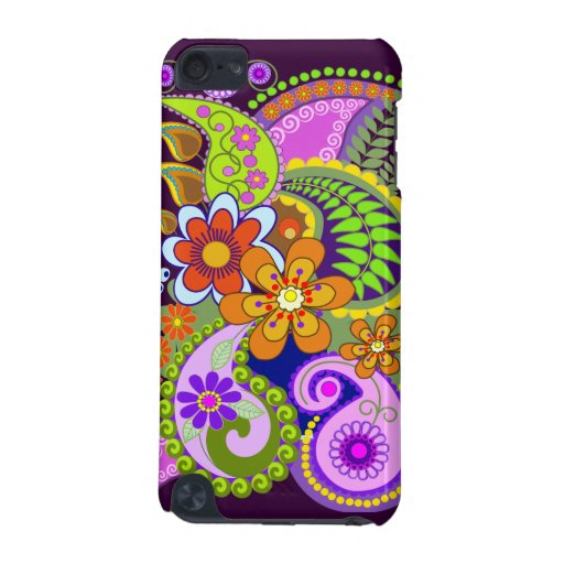 Colourful Paisley Patterns and Flowers iPod Touch (5th Generation) Cover