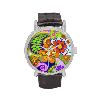 Colourful Paisley Patterns & Flowers watch
