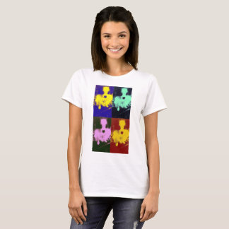 Colourful Papillon Dog Pop Art T shirt