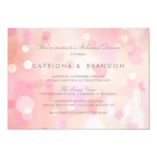 Colourful Pastel Lights Rehearsal Dinner Card
