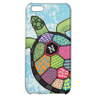 Colourful Patchwork Pattern Monogram Sea Turtle Cover For iPhone 5C