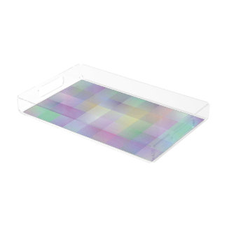Colourful pattern acrylic tray