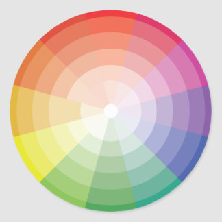 Colourful Pattern Stickers Colour Wheel