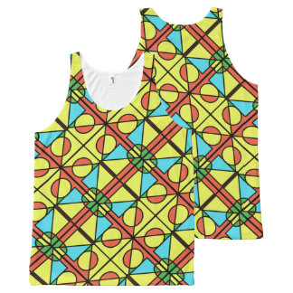 Colourful patterned vest