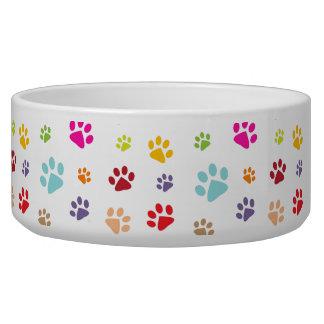 Colourful Paw Prints Pet Bowl