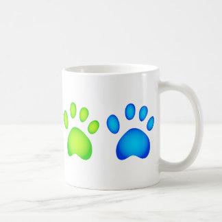 Colourful Paws Basic White Mug