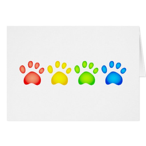 Colourful Paws Cards