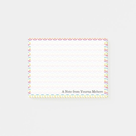 Colourful Peace and Love Emojis Post-it Notes